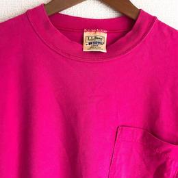 LLビーン×ラッセル ポケットT ピンク