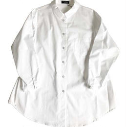 Cotton broad blouse/white