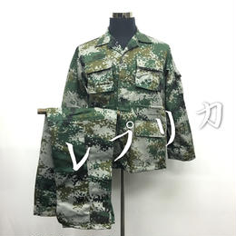 【レプリカ】PLA07式 林地迷彩 作戦服上下セット