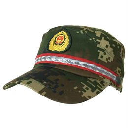 中国人民武装警察07式冬迷彩帽子