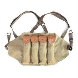 米軍 朝鮮戦争 トンプソン用チェストリング マガジンポーチ 複製品
