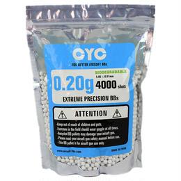 CYC精密バイオBB弾 0.2g 4000発入(生分解性)