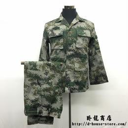 【林地迷彩】中国人民解放軍07式 作戦服上下セット