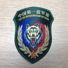 中国人民解放軍 演習用部隊章 藍軍(仮想敵)