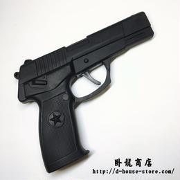 【改良版】PLA  QSZ-92式拳銃 ピストル 訓練用ゴム製メタルフレームダミー