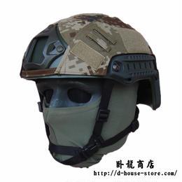 【荒漠迷彩】PLA FASTヘルメット用カバー