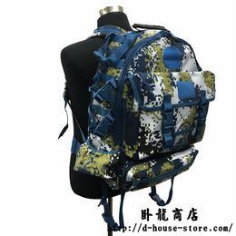 【専用ワッペン付き】中国人民解放軍 海軍 海軍陸戦隊 07式海洋迷彩柄ナイロン製リュック