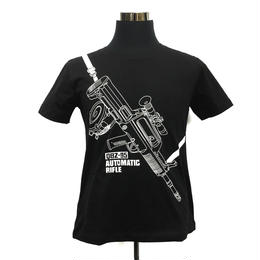QBZ-95式自動歩銃柄 Tシャツ 解放軍クラスタグッズ 黒・白