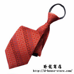 【赤】 中国鉄路職員 制服用ネクタイ