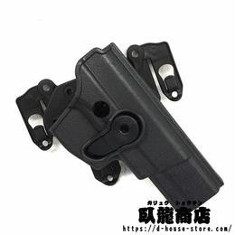 QSZ92式拳銃用 MELLOシステム対応ホルスター プラスチック樹脂製 右利き用  中国人民解放軍 武装警察 武警 公安警察