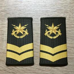 【コレクター商品】中国人民解放軍99式 陸軍 筒式肩章 四級士官