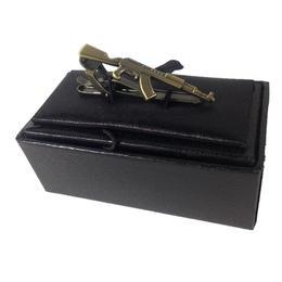 AK型金属製ネクタイピン 銅色 箱付き