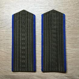 【コレクター商品】中国人民解放軍87式 空軍 文職幹部 制服専用肩章(文職花なし)