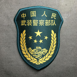 中国人民武装警察 武警 16式制服用部隊章