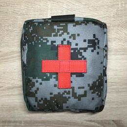中国人民解放軍 林地迷彩 医療器具ポーチ
