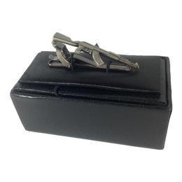 AK型金属製ネクタイピン 銀白色 箱付き