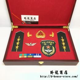 PLA軍官幹部 15式春秋制服用 徽章セット