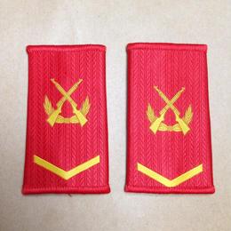 【下士】中国人民武装警察 07式夏制服用 筒型肩章 階級章