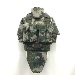 【送料無料】中国人民解放軍 国際派遣 PKO標準装備 林地ボディーアーマー レッグパーネル2種類付きセット