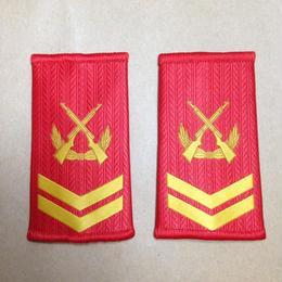 【四級軍士長】中国人民武装警察 07式夏制服用 筒型肩章 階級章