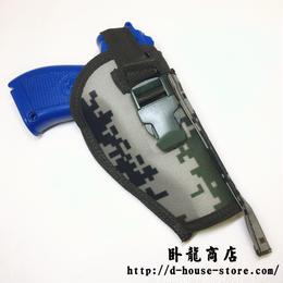 中国人民解放軍 QSZ92式拳銃 ピストル用ホルスター 林地迷彩ナイロン製 molleシステム