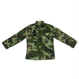 【実物】中国人民武装警察07式夏迷彩服上下セット 襟章バージョン
