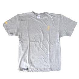 TEMPLE シンプルTシャツ グレー✖️イエロー