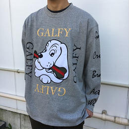 GALFY   袖ロゴロンT(TOP GRAY)
