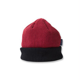 SON OF THE CHEESE  C 100 KNIT CAP(WINE×BLACK)