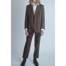 Western Single Breasted Jacket. -Gabardine Wool-