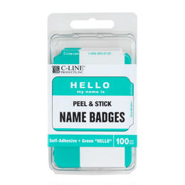 "HELLO my name is ""NAME BADGES"""