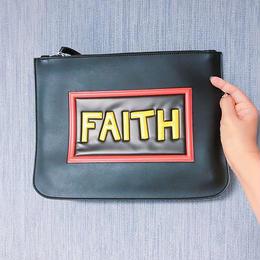 FAITHロゴクラッチバッグ