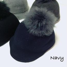 リアルファー ウール帽子