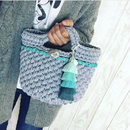 tassel tote bag by drop
