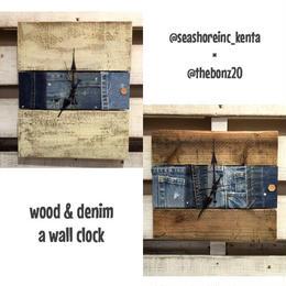 wood&denimコラボ時計