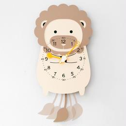 【ハンドメイド】ウォールクロック - ANIMAL SERIES - ライオン