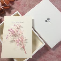 【ハンドメイドレターセット】カスミソウ ピンク(F)