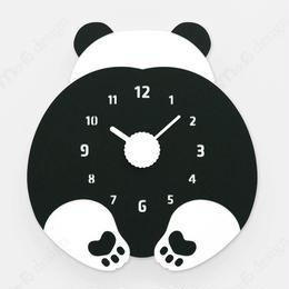 【ハンドメイド】ウォールクロック - CHUBBY HIP - パンダ