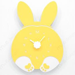 【ハンドメイド】ウォールクロック - CHUBBY HIP - ウサギ