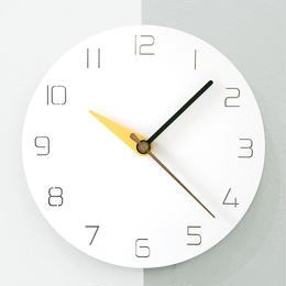 【ハンドメイド】ウォールクロック - 3 modern colors - yellow