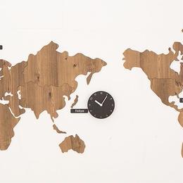 【ハンドメイド】WORLD TIME MONO  ブラウン