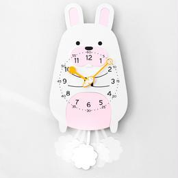 【ハンドメイド】ウォールクロック - ANIMAL SERIES - ウサギ
