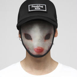 "【FR2xマスクヘッズ®】""Smoking kills"" Mask Heads Cap/BLACKxBLACK[FRA187]"