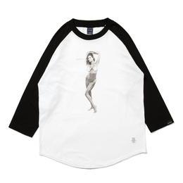 """APPLEBUM """"Nice Applebum"""" Raglan 3/4 Sleeve T-shirt"""