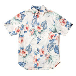 Aloha Fly Front SS Shirt [White]