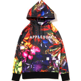 "Flower Black"" Sweat Parka"