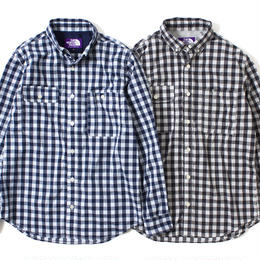 "THE NORTH FACE PURPLE LABEL ""COOLMAX GINGHAM STRETCH B.D SHIRT"""