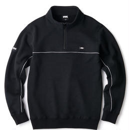 PIPING HALF ZIP SWEATSHIRT
