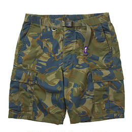 "THE NORTH FACE PURPLE LEBEL ""COOLMAX® Camouflage Webbing Belt Shorts"""