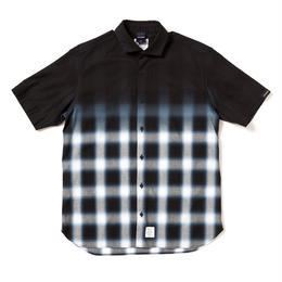 Black Dye Ombre Check Shirt